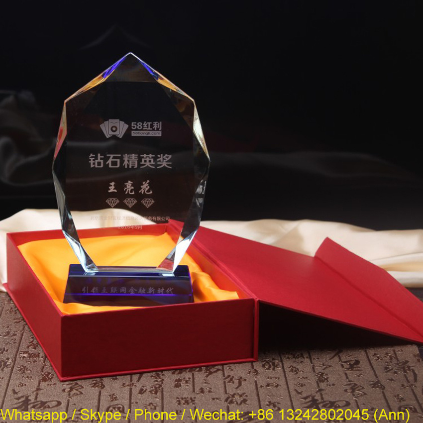 Wholesale Acrylic Crystal Trophy for Business Souvenir