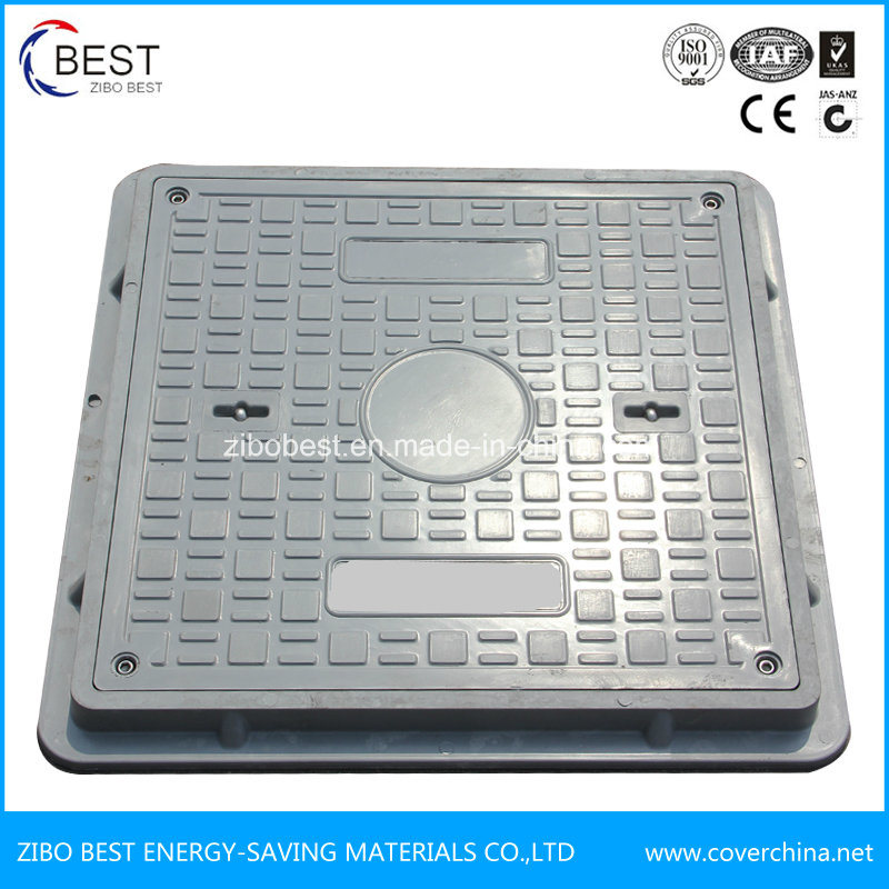 En124 Composite Square Manhole Cover with Frame