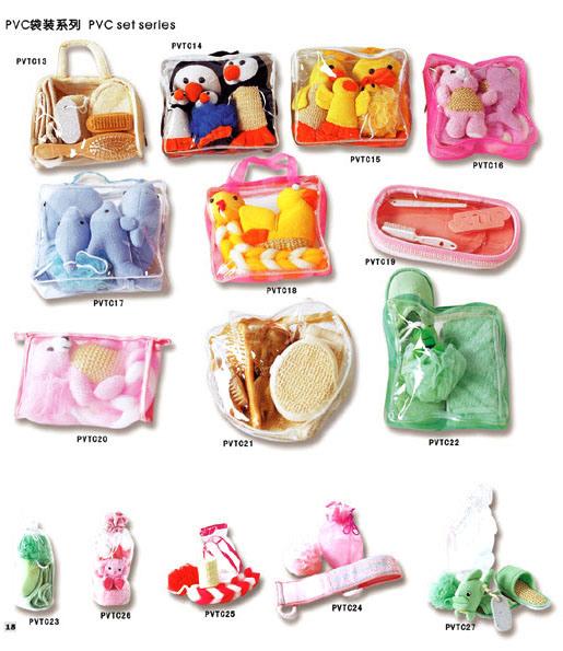 Bathroom Set In A Bag: Bath Set In PVC Bag (PVT013-027)