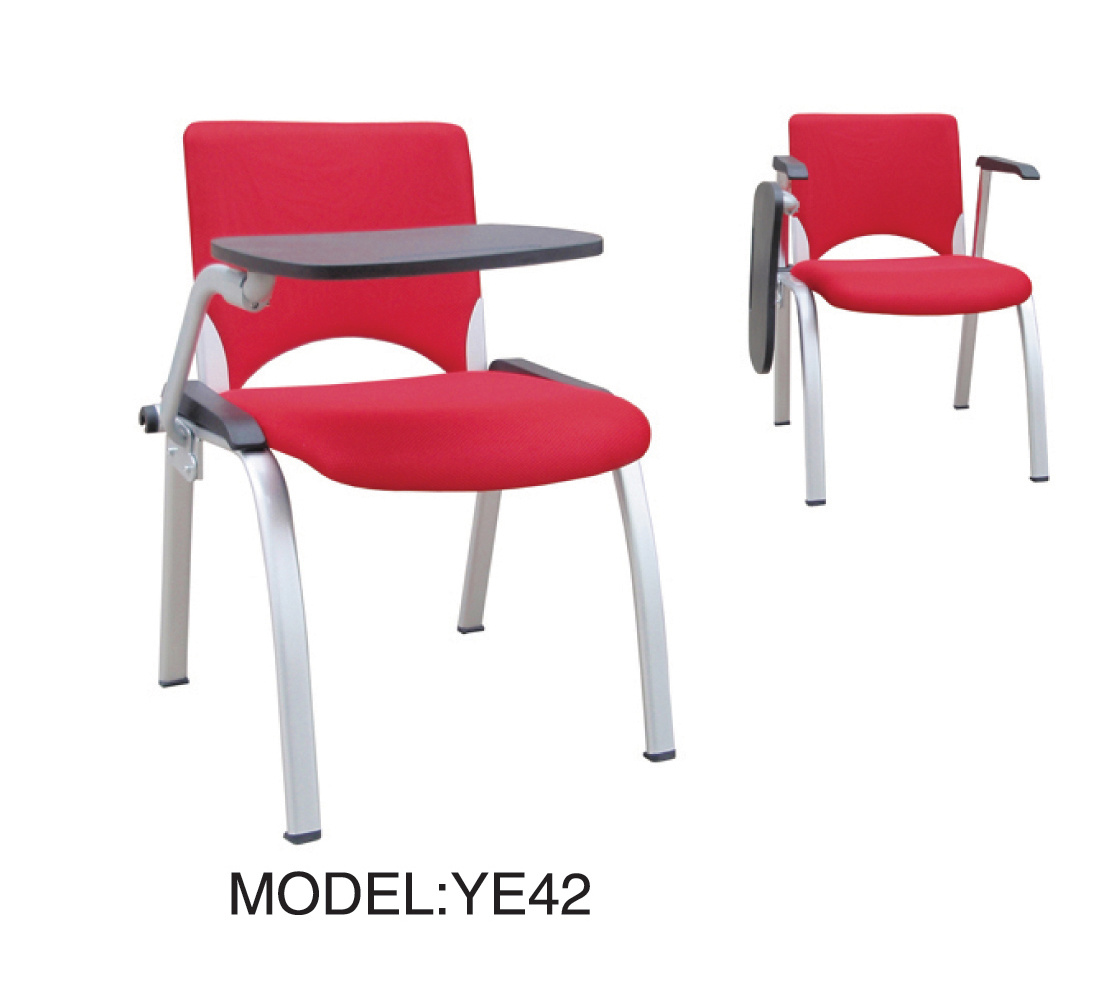 Alta calidad plastic chair con writing board ye42 alta for Sillas plasticas comedor