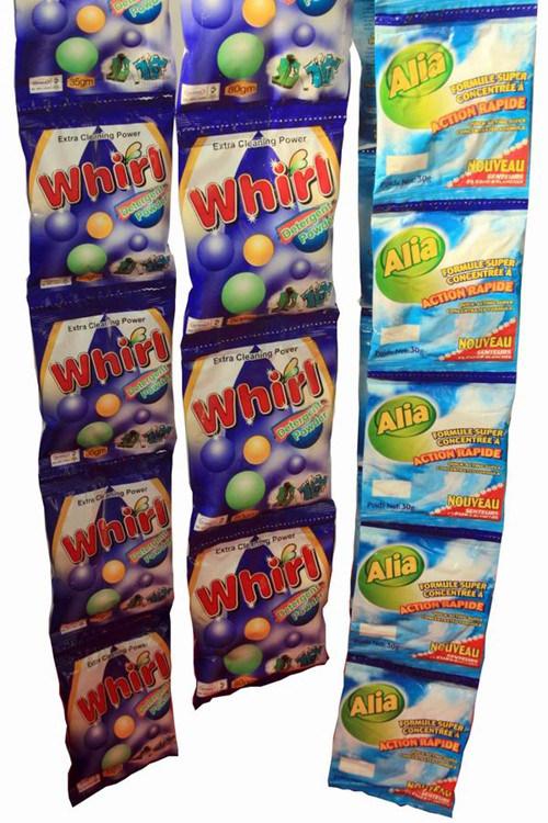 15g/30g/35g/80g/115g African Small Sachet Washing Powder Detergent Powder Supplier