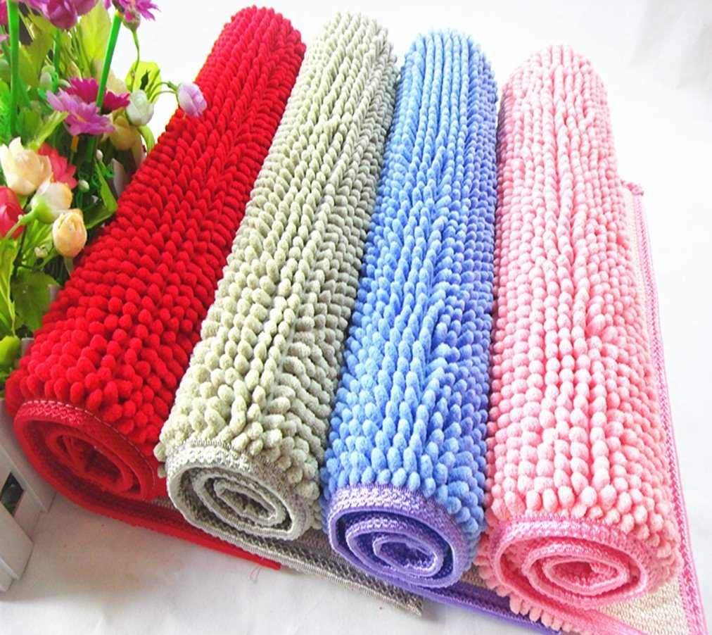 Anti Slip Washable Soft Chenille Fabric Bedroom Carpet Door Mat