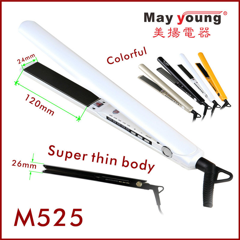 1 Inch Width Extra Long Professional Hair Straightener (M525)