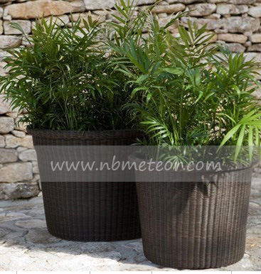 Mtc-006 Wicker Rattan Outdoor Garden Furniture Flower Pot
