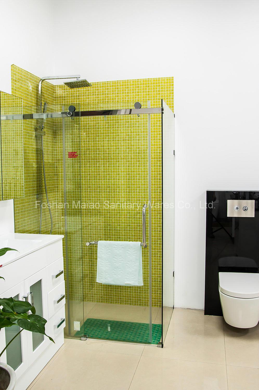 Australian Approval Tempered Glass Rectangle Frameless Shower Screens (H001E)