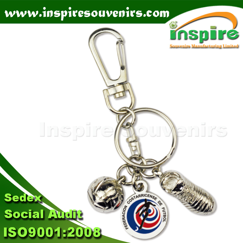 Zinc Alloy 3D Souvenir Shoe Keychain for Gift (MS834)