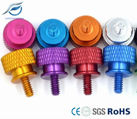Anodized Hand/Thumb Screws, 6061 Aluminum Alloy Screw for Computer Chassis