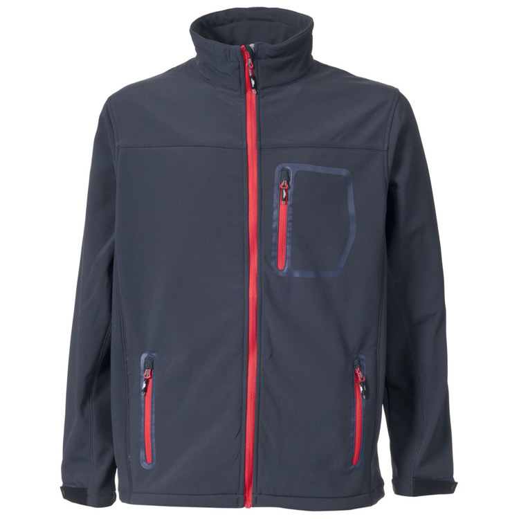 Men Stand Collar Windproof Lightweight Softshell Jacket