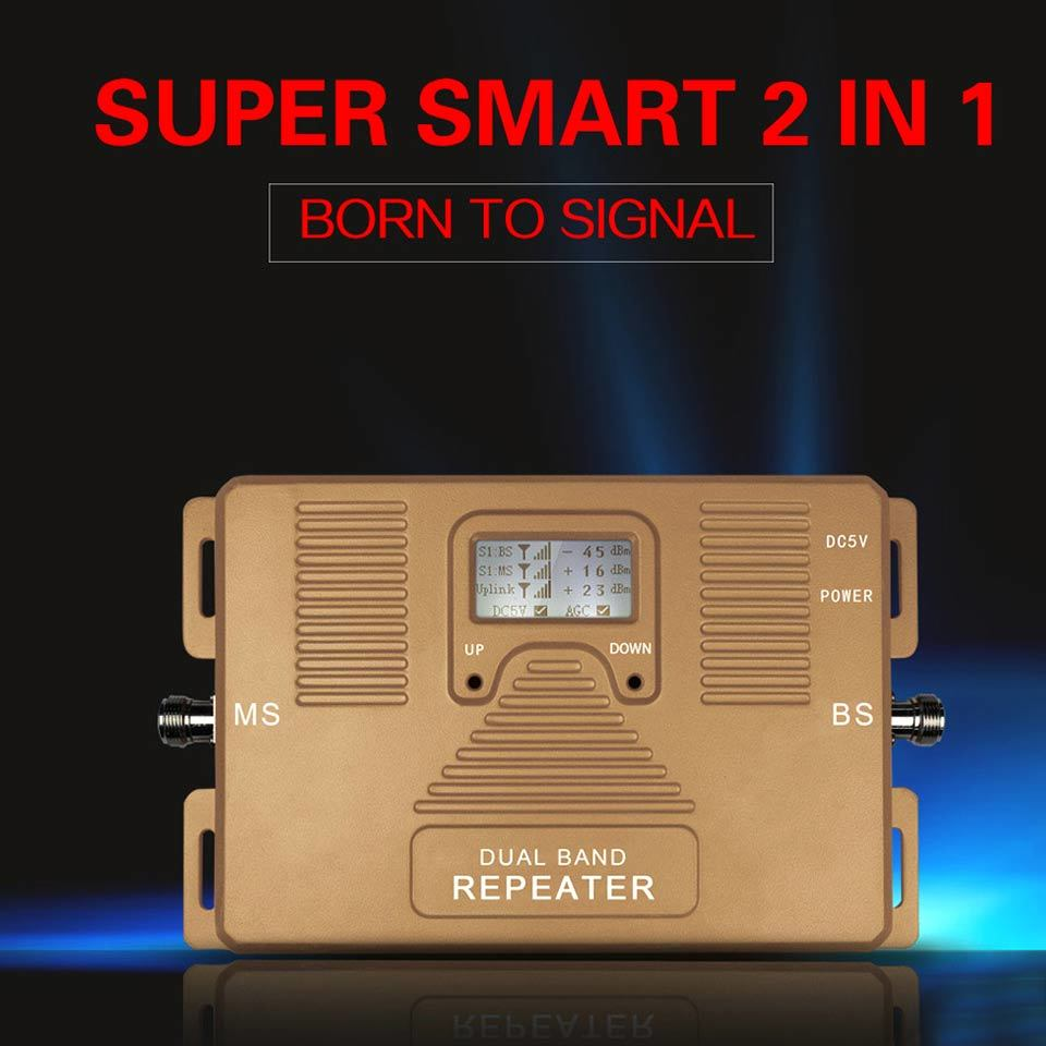 Smart Dual Band 850/1900MHz GSM Signal Booster 2g3g Repeater