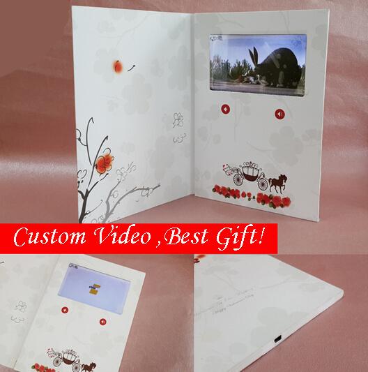 Slim Digital Advertising Video Greeting Card
