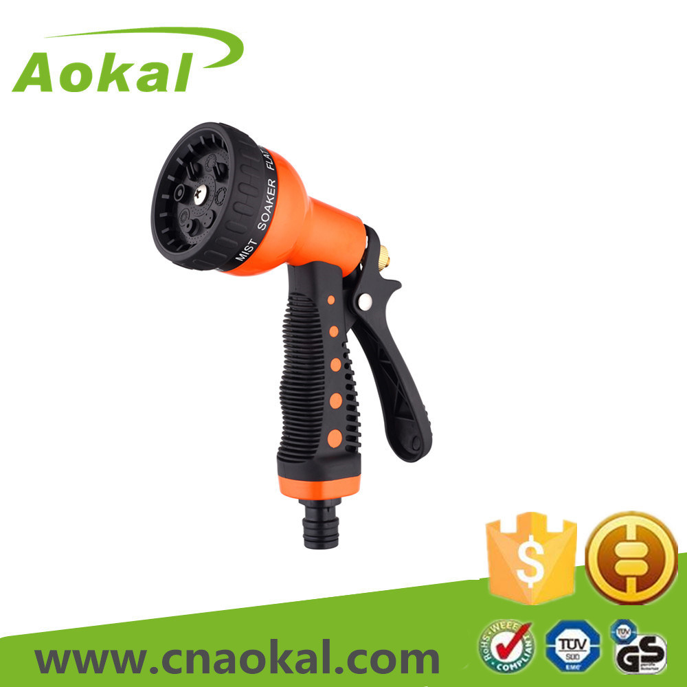 8-Pattern Metal Water Spray Gun