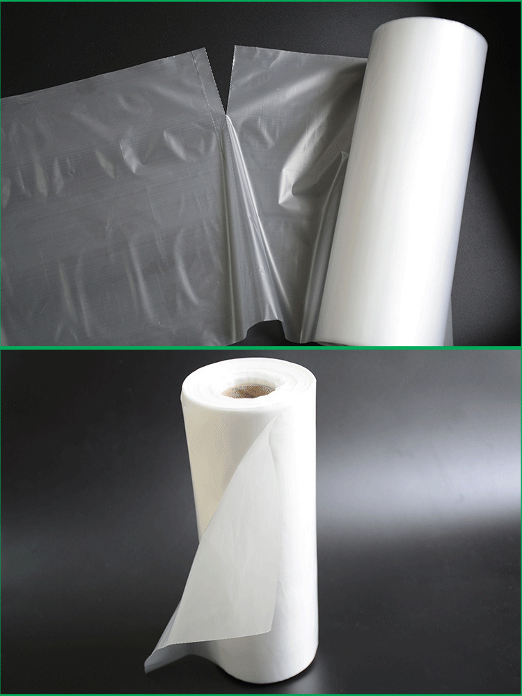 LDPE/HDPE Transparent Flat Plastic Bag on Roll