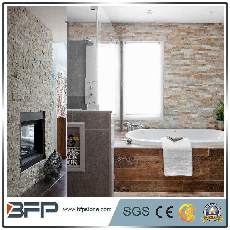 White Natural Quartz Slate Ledge Stone for Wall Panels
