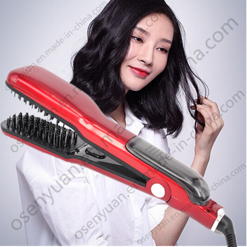 Electric Professional Magic Steam Hair Straightner Comb