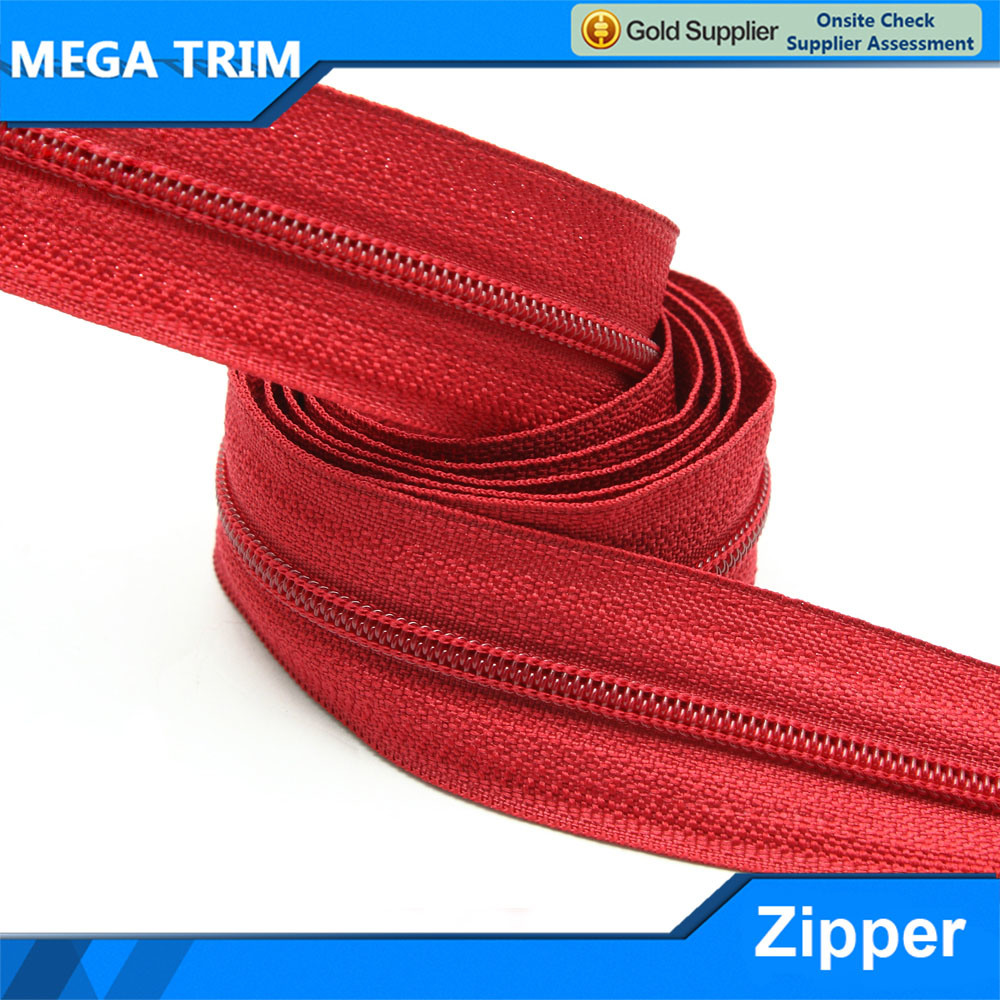 5# Red Nylon Zipper