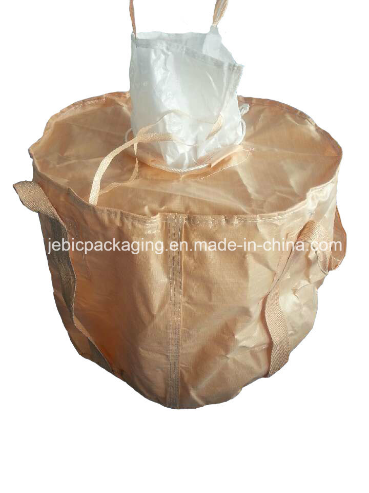 Beige Circular FIBC Bulk Bag