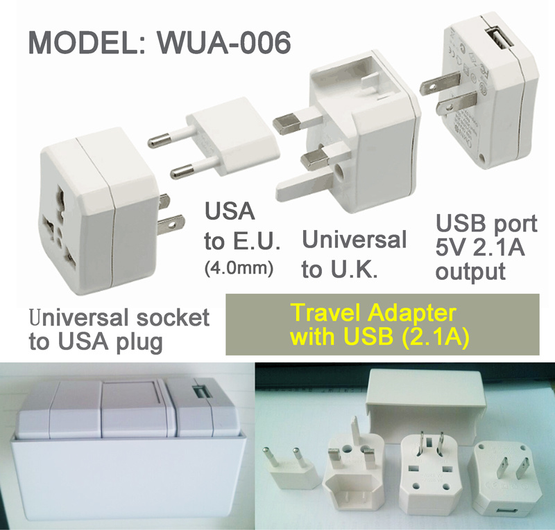 Wonpro Universal Adapter Kit with 2.1 a USB