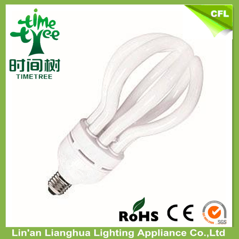 4u Shaped 55W 60W 65W 70W Lotus Energy Saving Lamp CFL