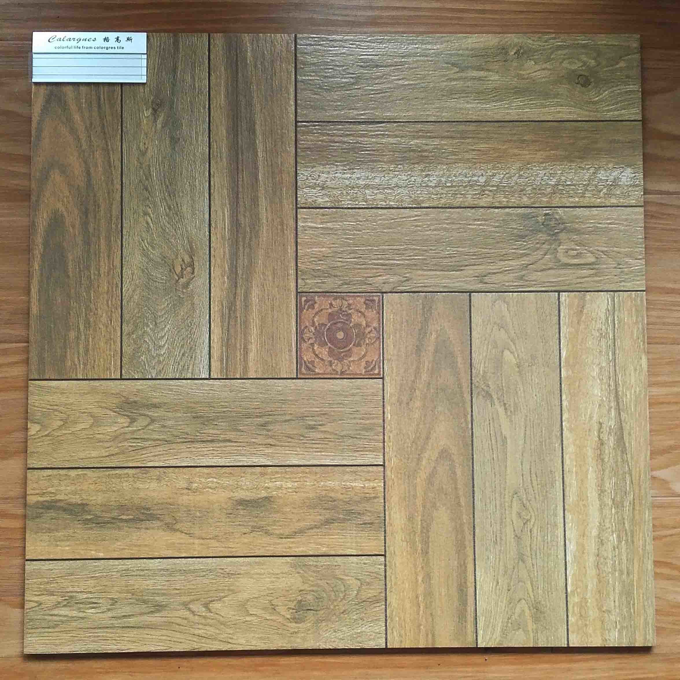 Wood flooring and tile together