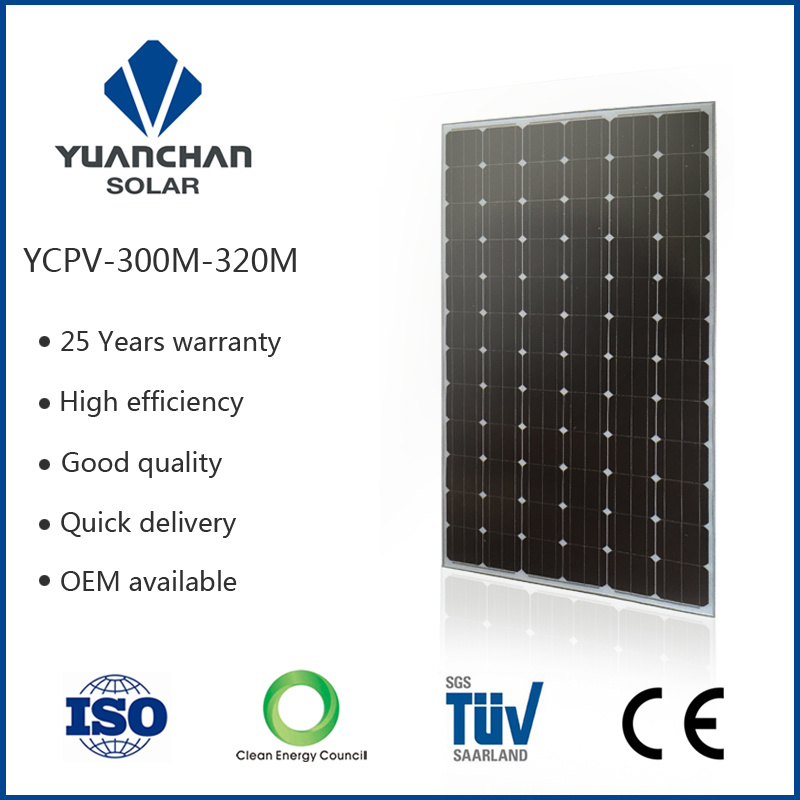 TUV ISO Ce High Effiency Low Price and Salable Mono 300watt Solar Panels for China Best-Selling Brand