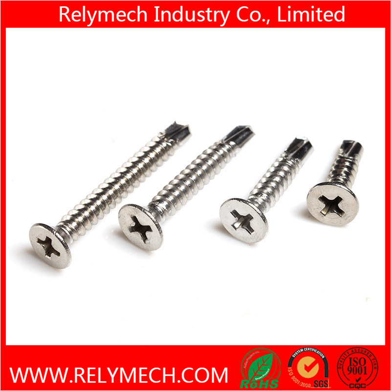 Phillips Countersunk Head Self Drilling Screw in Stainless Steel 304