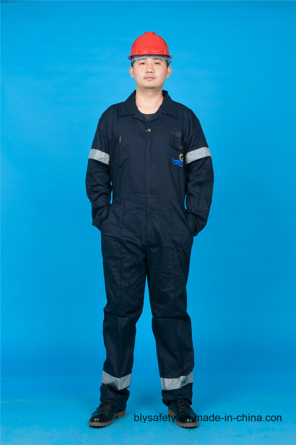 High Quality Safety Long Sleeve Cheap 65% Polyester 35%Cotton Workwear Coverall (BLY1020)