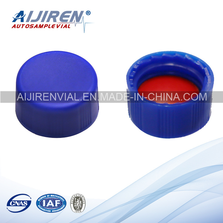 9mm Blue PP Cap PTFE Silicone Septa Chromatography Vial