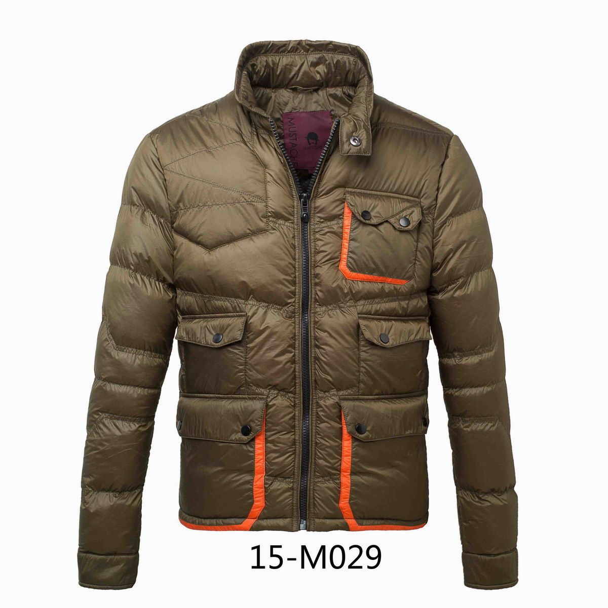 Men′s Contrast Pocket Winter Padding Jacket (15-M029)
