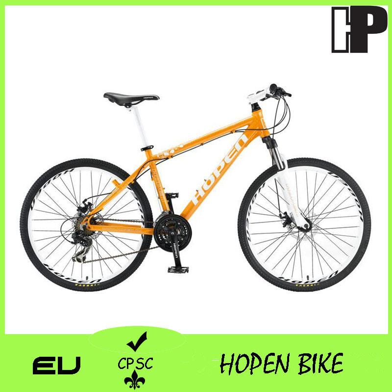 """New Fashion Alloy Mountain Bicycle, 26"""" 21sp, Orange"""