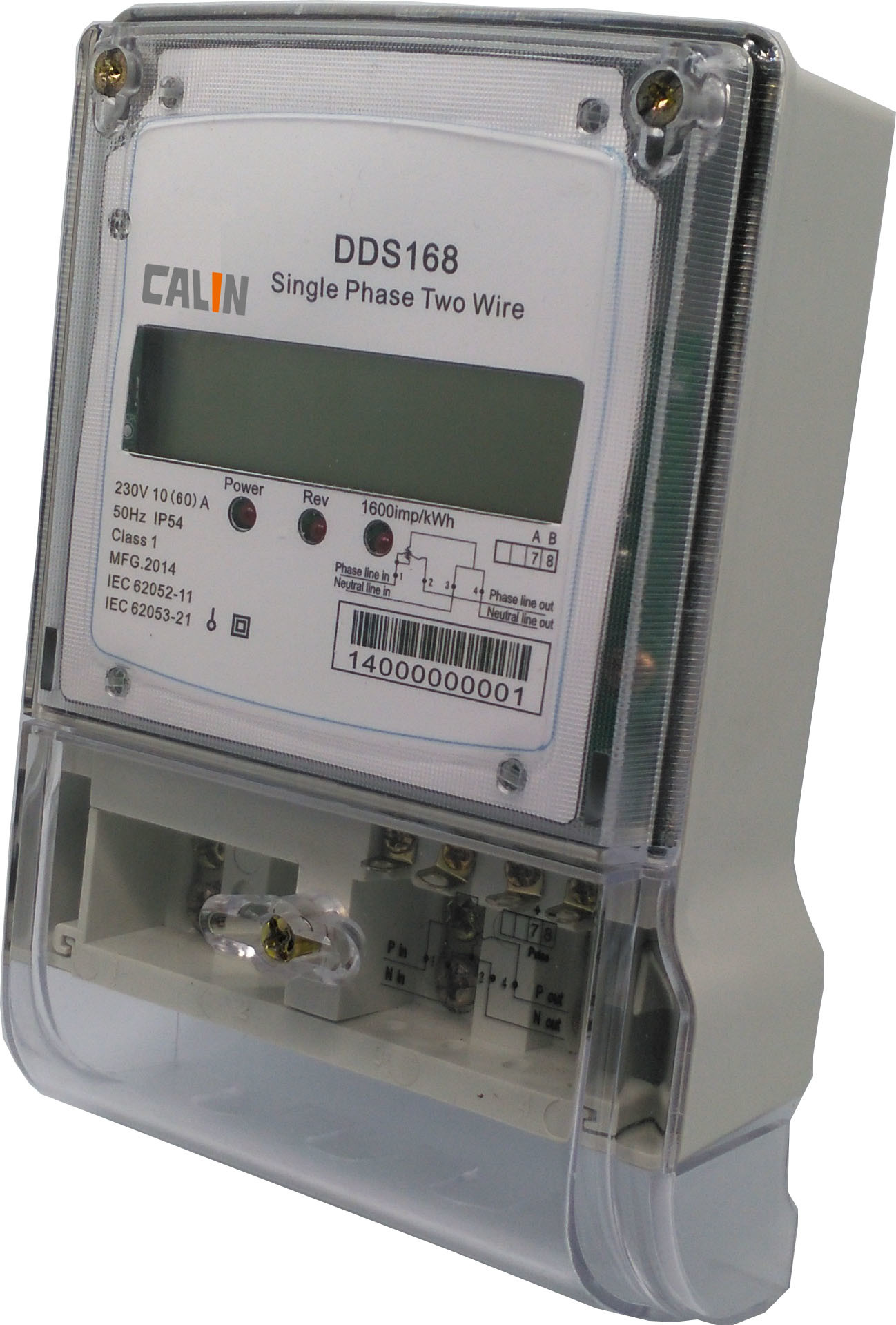 Single Phase LCD Diplay Electricity Energy Meter