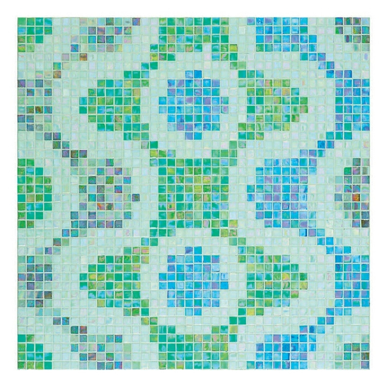 Green Mosaic Pattern Wall Decoration Mosaic Pattern Mosaic (MP874A)