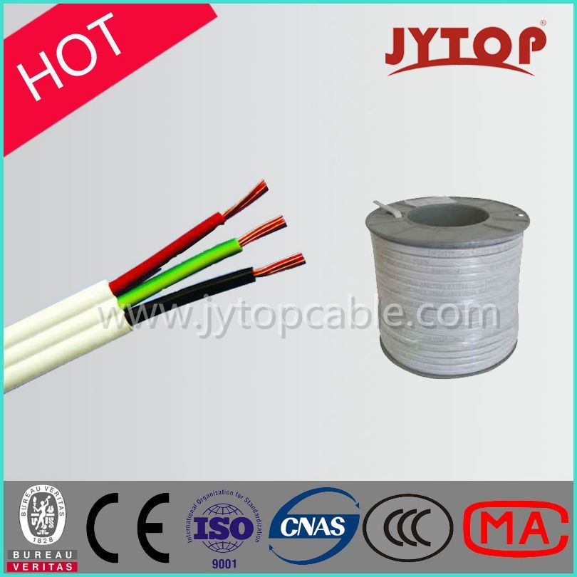 Energy Cable, 450/750V Flat TPS 3 Core Copper Cable, PVC Insulation Cable