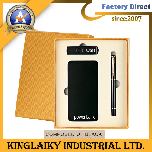 Promotional Gift with Creative Stationery Power Bank and Pen