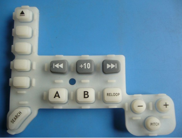 Translucent Conductive Laser Engraving Silicone Elastomer Single Push Keypads for Electronic Equipment
