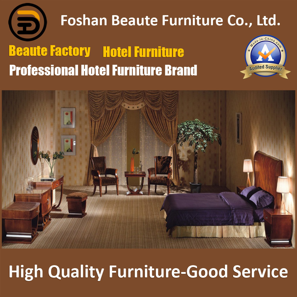 Hotel Furniture/Chinese Furniture/Standard Hotel King Size Bedroom Furniture Suite/Hospitality Guest Room Furniture (GLB-0109823)