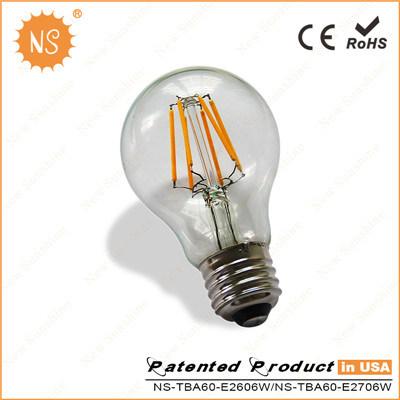 Ce RoHS A60 800lm Ra90 8W Filament Global Bulb LED Lamp
