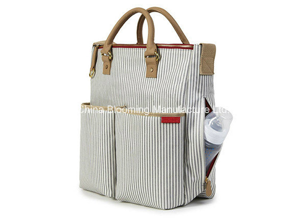 Canvas Handbag Mummy Tote Baby Diaper Bag with Changing Pad