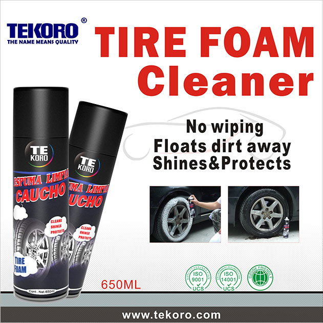 Tyre Foam Cleaner, Hot Shine Cleaner Protectant Aerosol Tire Foam