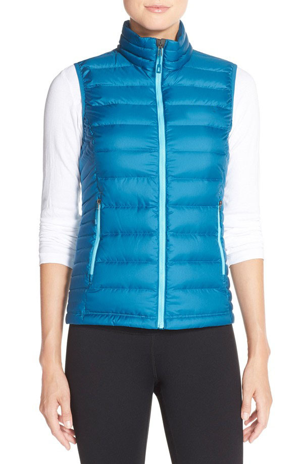 Women Slim Stand Collar Down Vest