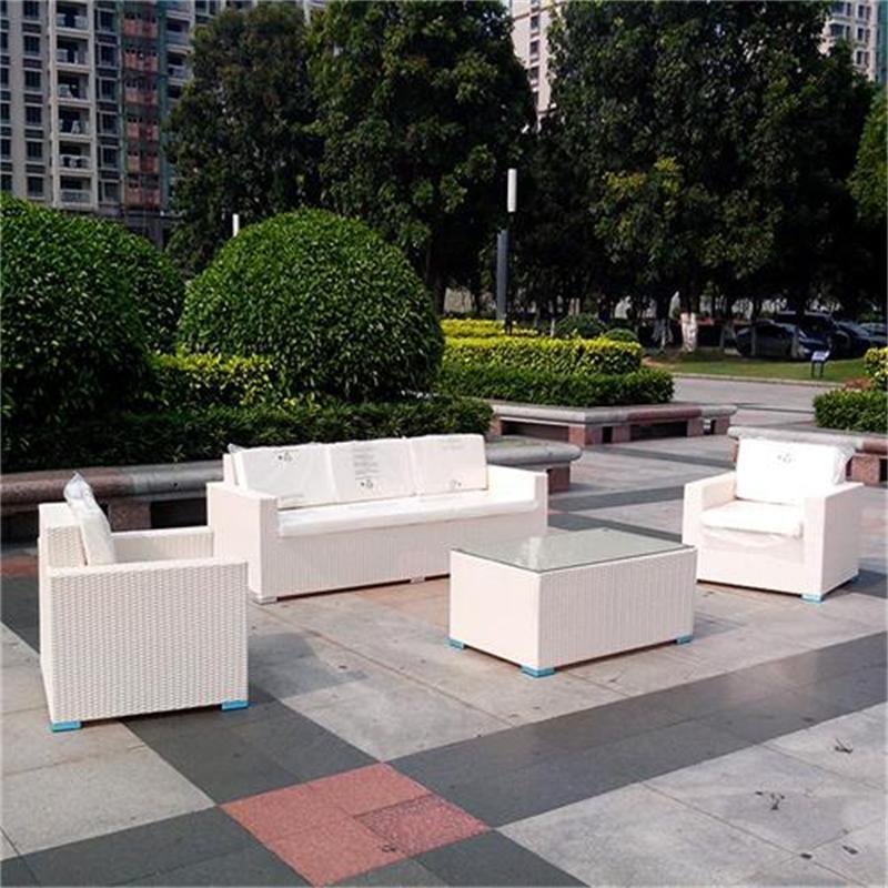 White Garden Patio Outdoor PE Rattan Sofa Sets