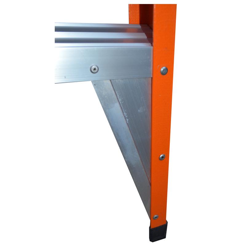 High Quality Double Side Fiberglass Folding Step Ladder