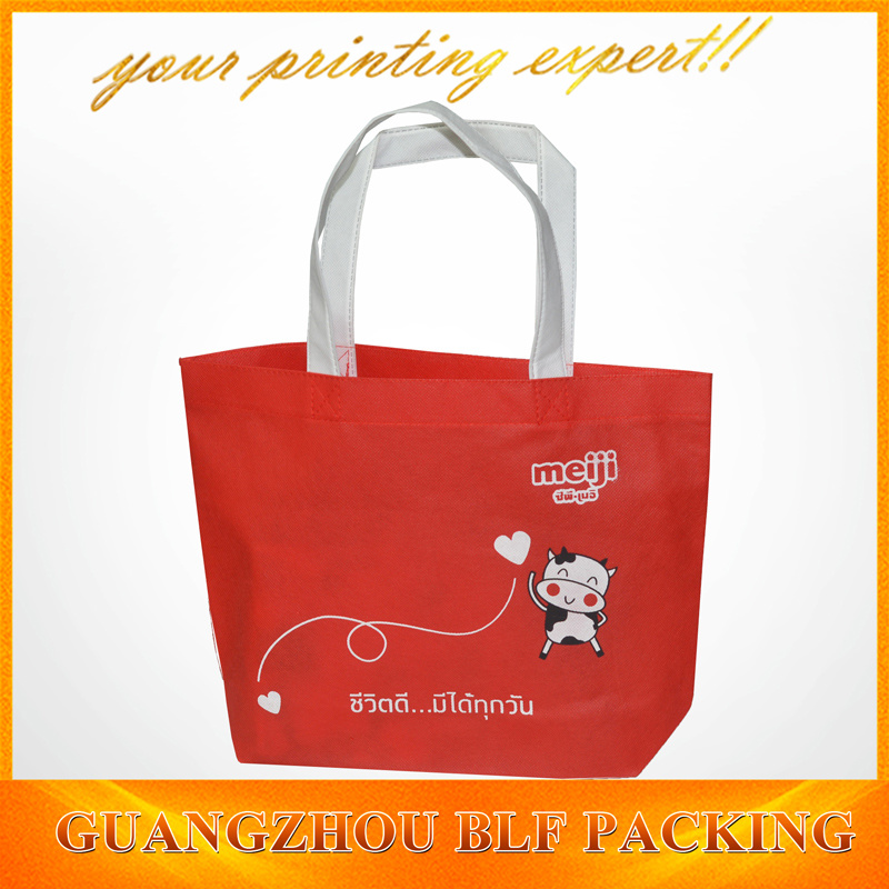 Customized Red Non Woven Fabric Bift Bags Shopping (BLF-NW202)