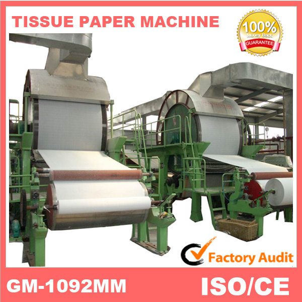 New Pocket Tissue and Cost of Tissue Paper Machine (1880mm)