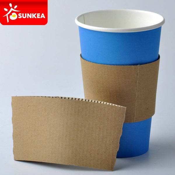Reusable Cup Wraps, Printed Kraft Coffee Cup Sleeve