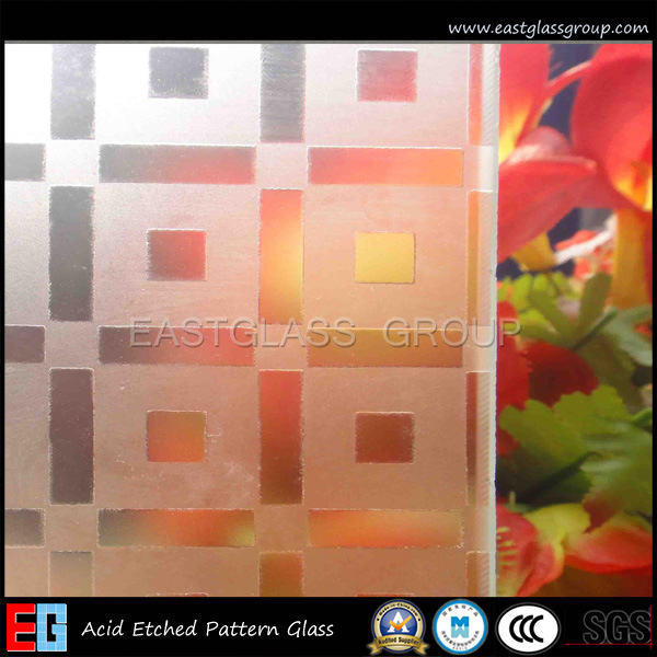 4-12mm Acid Etched Glass Figured/Pattern Glass (AD47)