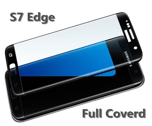 Tempered Glass Screen Protector Full Coverd for Samsung S7 Edge 3D