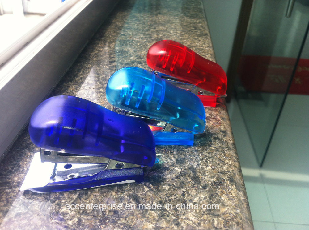 Translucent Mini Stapler for 24/6 26/6 Staples Office Stapler