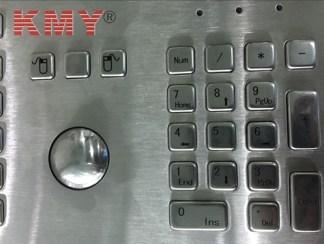 Waterproof IP65 Kiosk Metal Keyboard with Trackball (KMY299H)