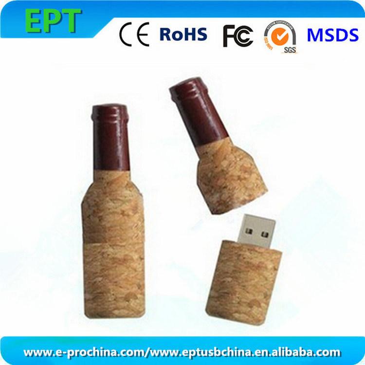 Customized Logo Wooden Pen Drive Flash Memory USB Stick (EW535)