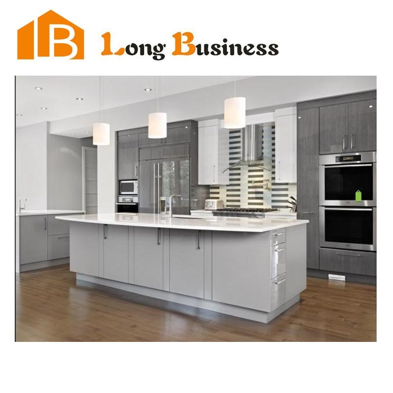 China modern design for solid wood kitchen cabinets lb for Solid wood modern kitchen cabinets